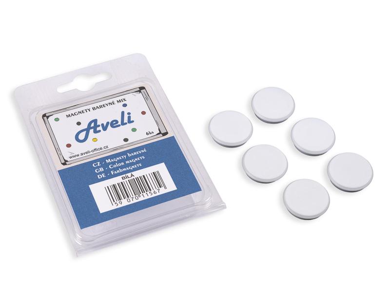 Set magnetů AVELI, bílá barva