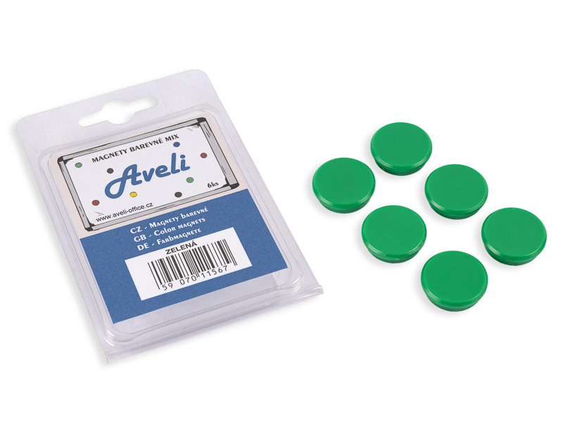Set magnetů AVELI, zelená barva