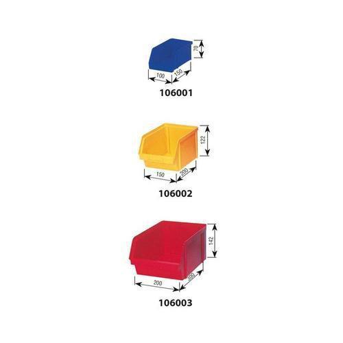 Oboustranný regál s boxy Unibox (154 ks)