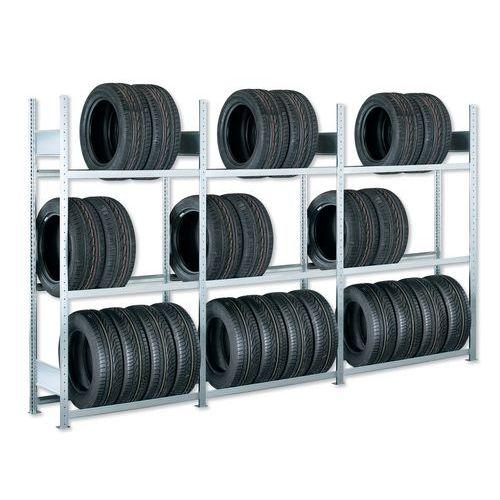 Regál na pneumatiky, přístavbový, 200 x 100 x 40 cm, 3 patra