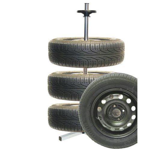 Stojan na pneumatiky, 4 patra