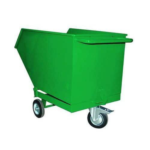 Pojízdný výklopný kontejner, objem 250 l, červený