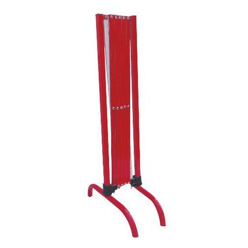 Kovová mobilní zábrana Manutan, skládací, délka 230 cm
