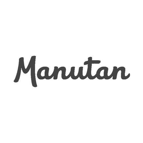 Nerezový policový vozík Manutan se dvěma madly, do 100 kg, 2 police s vyvýšenými hranami