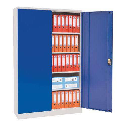 Kovová dílenská skříň, 195 x 120 x 42,1 cm