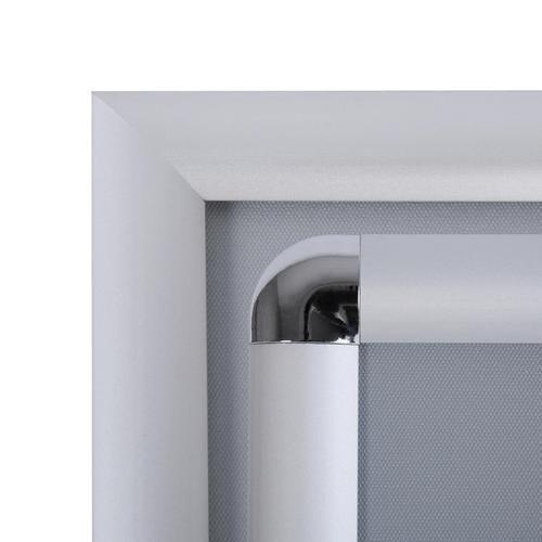 Informační stojan Menuboard, profil 25 mm, oblé rohy, A4