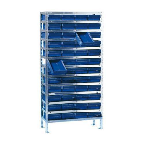 Regál s 48 zásuvnými boxy, hloubka 50 cm