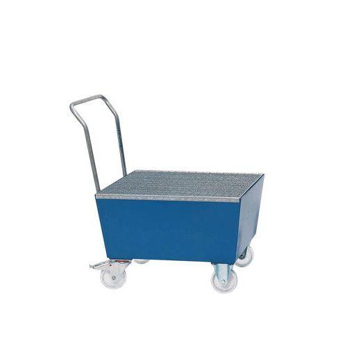 Pojízdná záchytná vana, na 1 sud, objem 60 l, lakovaná