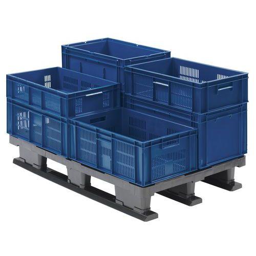 Stohovatelná plastová přepravka PP Manutan, 39 l