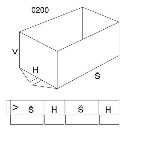 Kartonová krabice, 400 x 800 x 600 mm