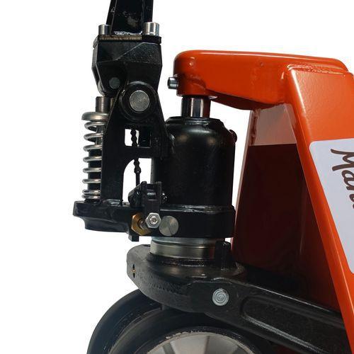 Paletový vozík Manutan s krátkými vidlicemi, do 2 000 kg, gumová řídicí kola