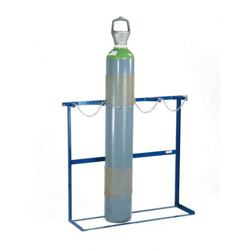Nástěnný držák na láhve a technické plyny, 2 láhve
