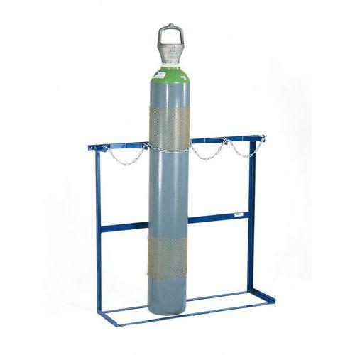 Nástěnný držák na láhve a technické plyny, 3 láhve