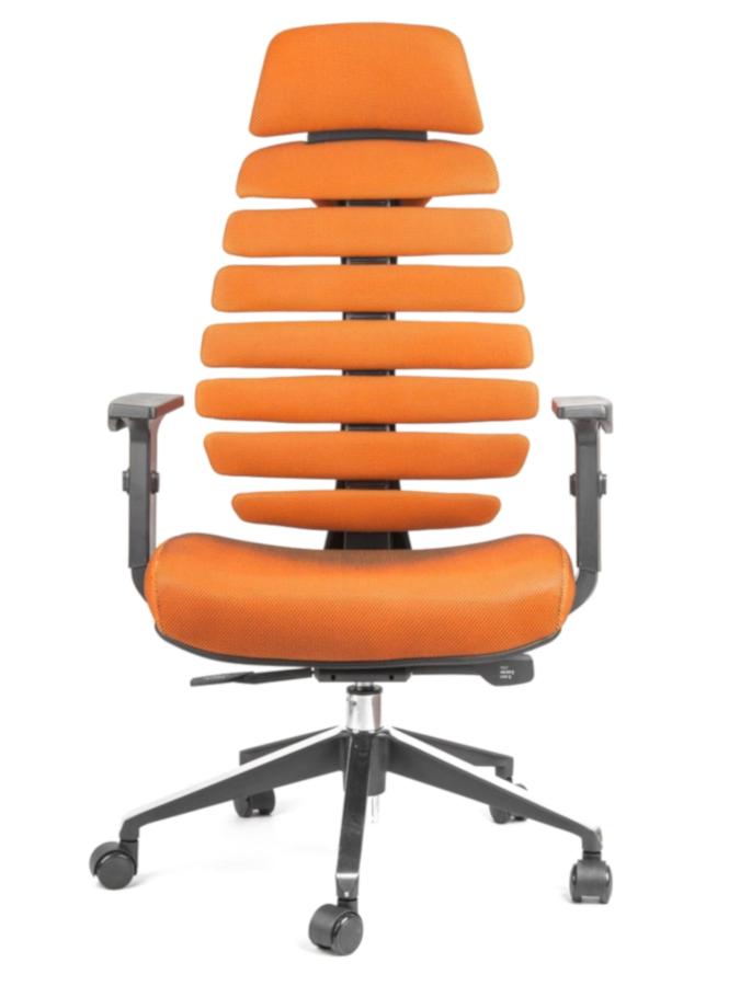 Kancelářské židle Node - Kancelářská židle FISH BONES PDH černý plast, oranžová SH05