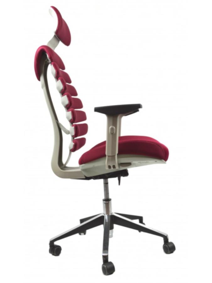 Kancelářské židle Node - Kancelářská židle FISH BONES PDH šedý plast, vínová látka TW13