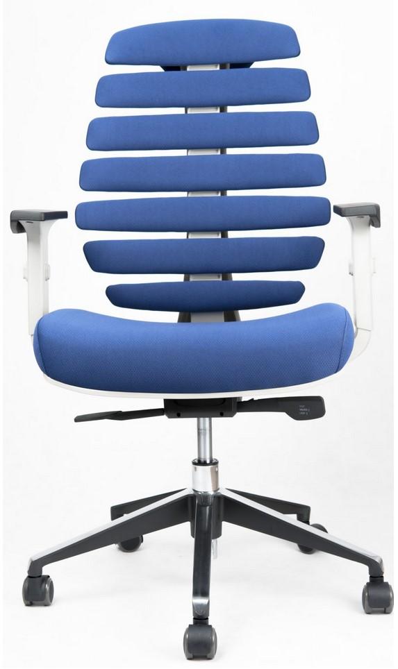 Kancelářské židle Node - Kancelářská židle FISH BONES šedý plast, modrá látka 26-67