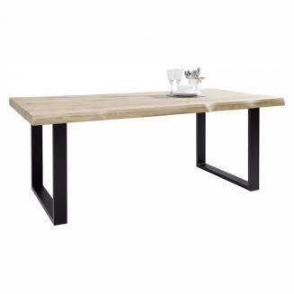 Jídelní stůl, masiv, divoký dub 200x100x76