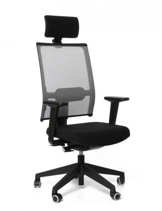 Kancelářské židle Emagra Kancelářská židle TAU černá H61/šedá G51 s podhlavníkem