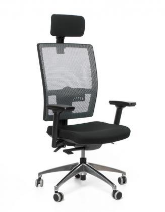 Kancelářské židle Emagra Kancelářská židle M1 černá E1/šedá G51 Z0 18 s podhlavníkem