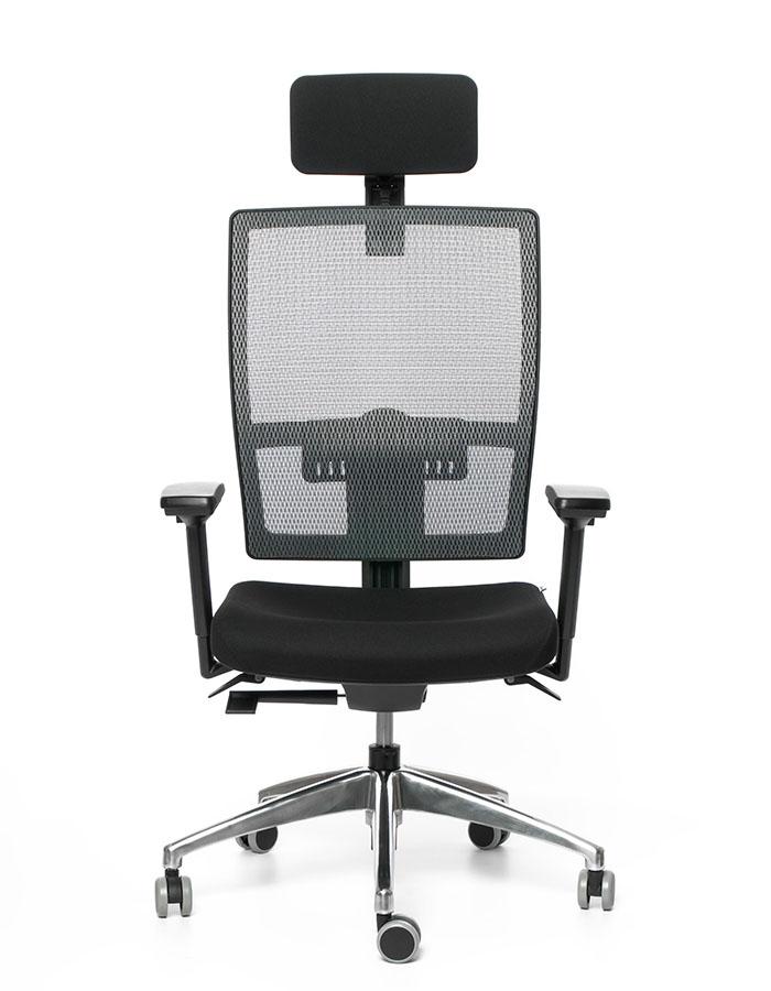 Kancelářská židle M1 černá E1/šedá G51 Z0 18 s podhlavníkem