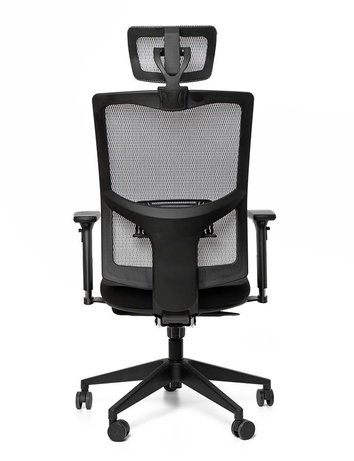 Kancelářská židle X5 černá E1/šedá G51/černá G52 4M F černý plast s podhlavníkem