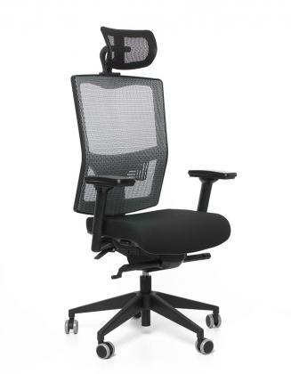 Kancelářské židle Emagra Kancelářská židle X5H černá E1/šedá G51/černá G52 Z0 F černý plast s podhlavníkem