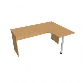 Zdroj prázdnej Kancelářský stůl ergo levý 160x120 cm - GE 60 L buk