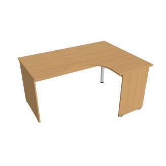 Zdroj prázdnej Kancelářský stůl ergo levý 160x120 cm - GE 2005 L buk